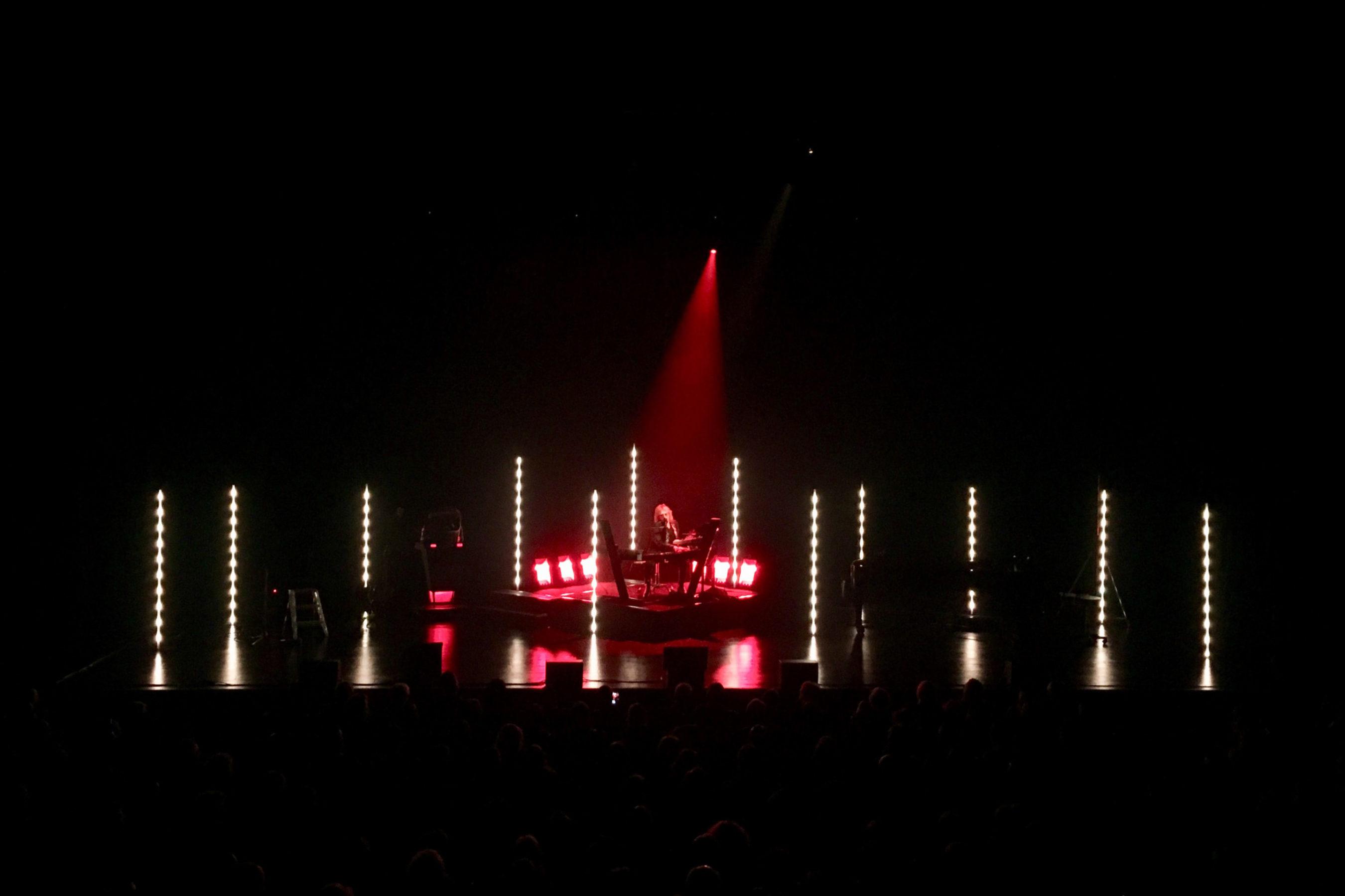 Christophe en solo lors de sa tournée Intime Tour (2017/2018)